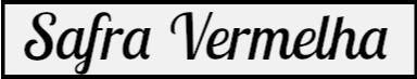 Nome do blogue, Safra Vermelha, em quado